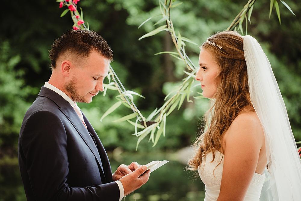 Ceremonie, gelachen, mooi verhaal