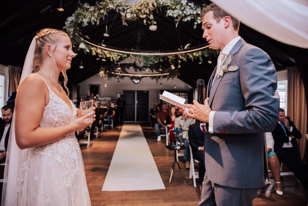 Bruidspaar, trouwen, ceremonie, geloftes